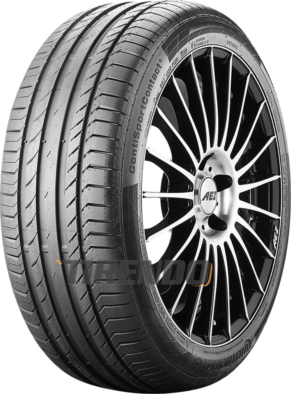 Continental ContiSportContact 5 ( 225/40 R19 93V XL mit Felgenrippe )