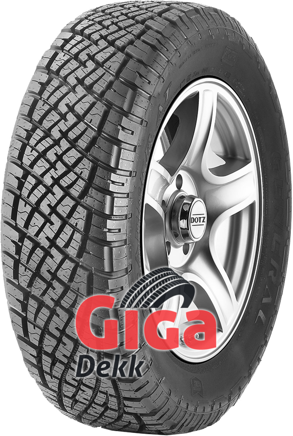 General GRABBER AT ( 255/55 R20 110H XL , med felgkant )