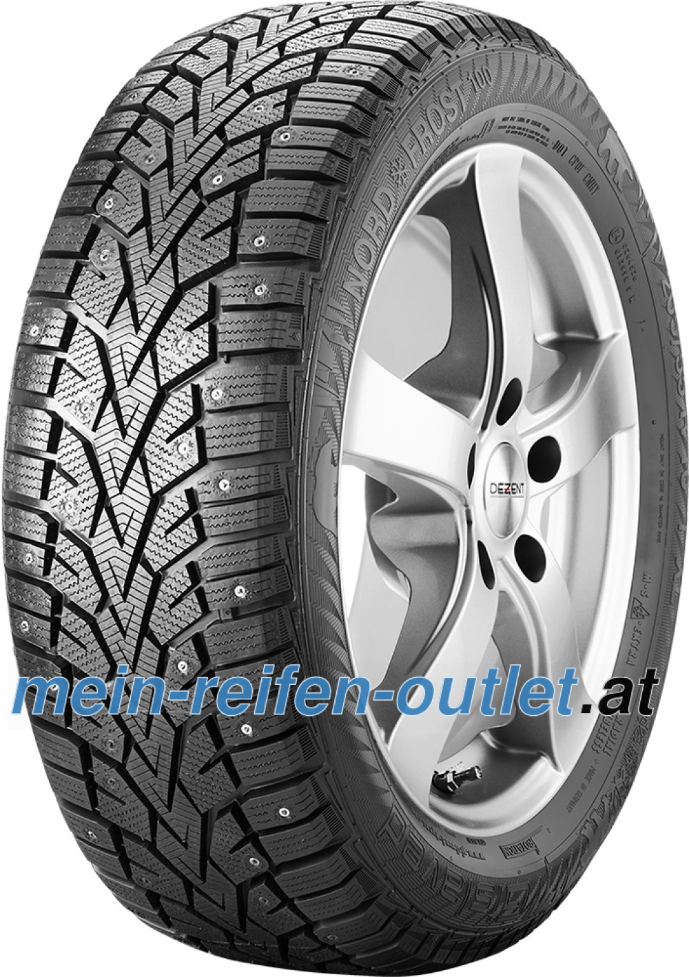 Gislaved NordFrost100 ( 185/65 R14 90T XL , bespiked )