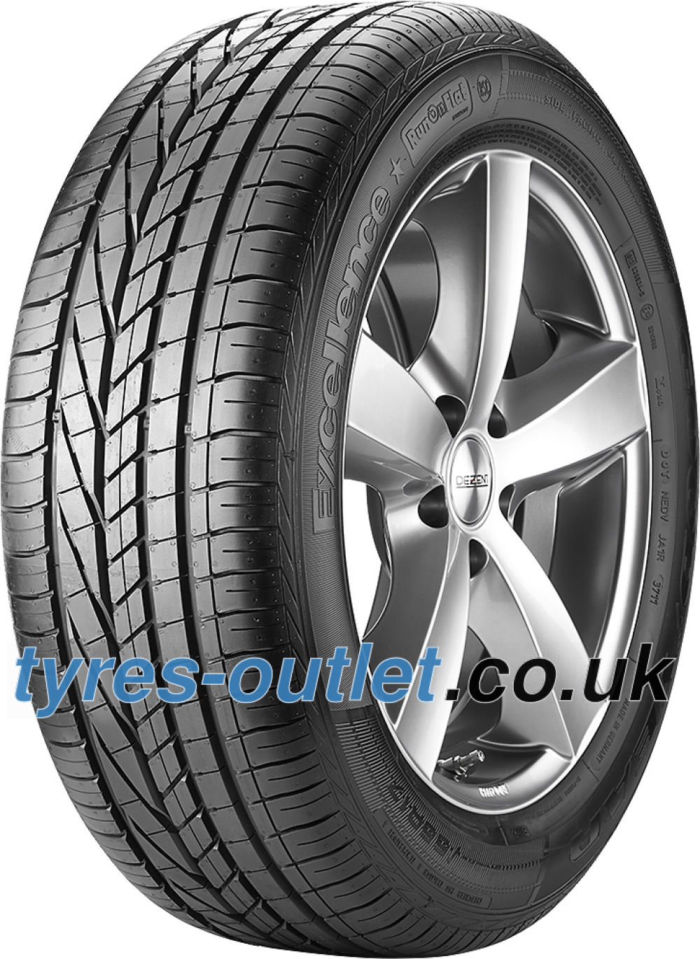 Goodyear Excellence ROF ( 255/45 R19 104Y XL AOE, SCT, with rim protection (MFS), runflat )