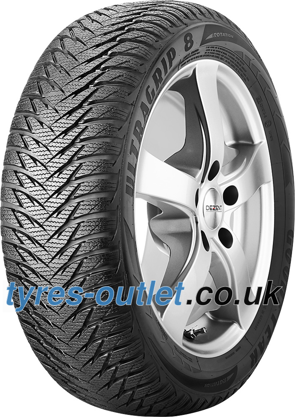 Goodyear UltraGrip 8 ROF ( 195/55 R16 87H *, with rim protection (MFS), runflat )
