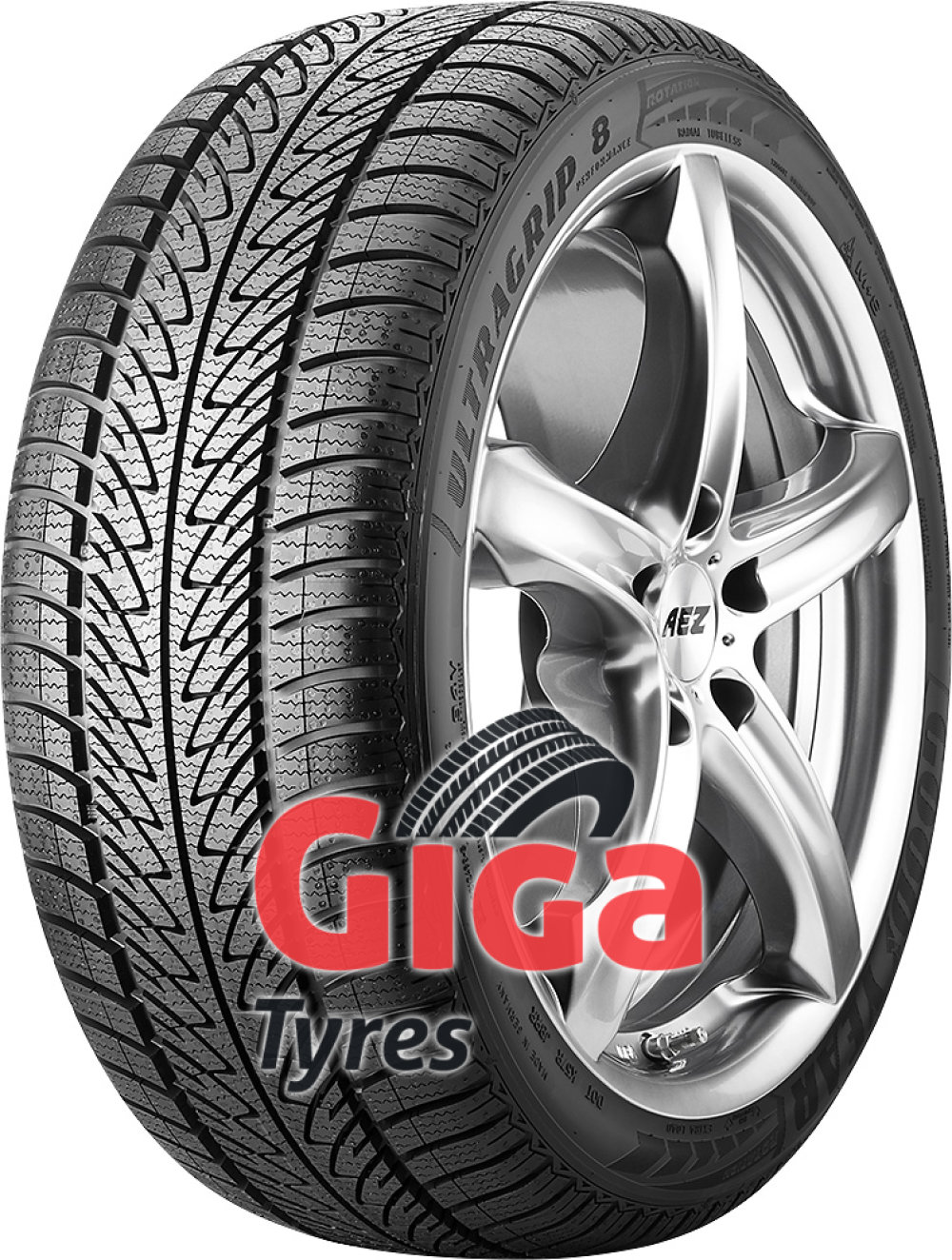 Goodyear UltraGrip 8 Performance ROF ( 245/45 R19 102V XL *, with rim protection (MFS), runflat )