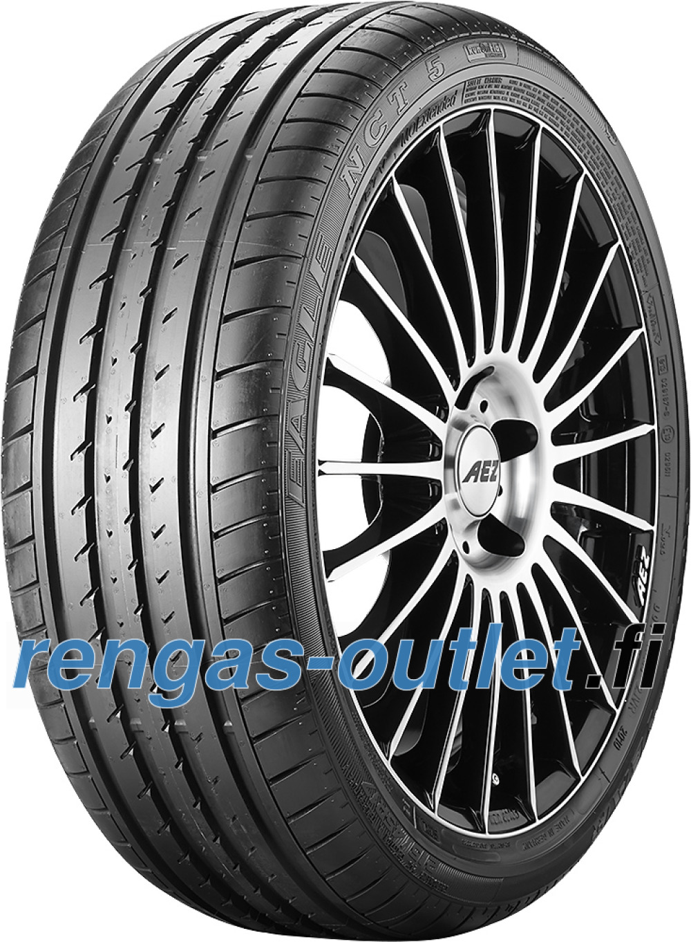 Goodyear Eagle NCT 5 ROF ( 285/45 R21 109W *, vannesuojalla (MFS), runflat WSW )