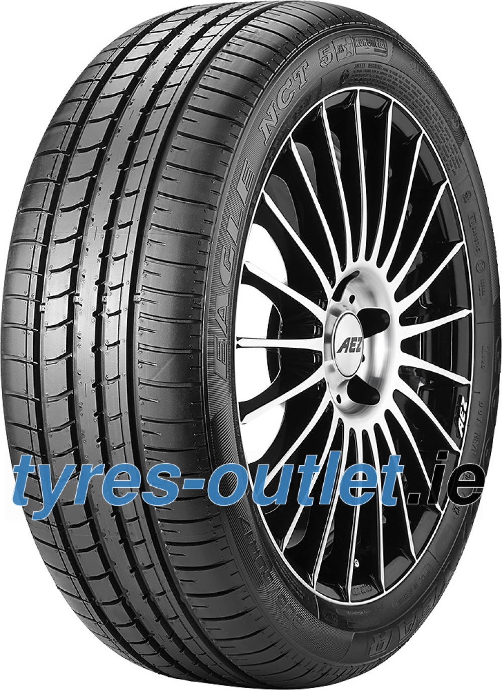 Goodyear Eagle NCT 5 Asymmetric ROF ( 225/40 R18 88W *, with rim protection (MFS), runflat )
