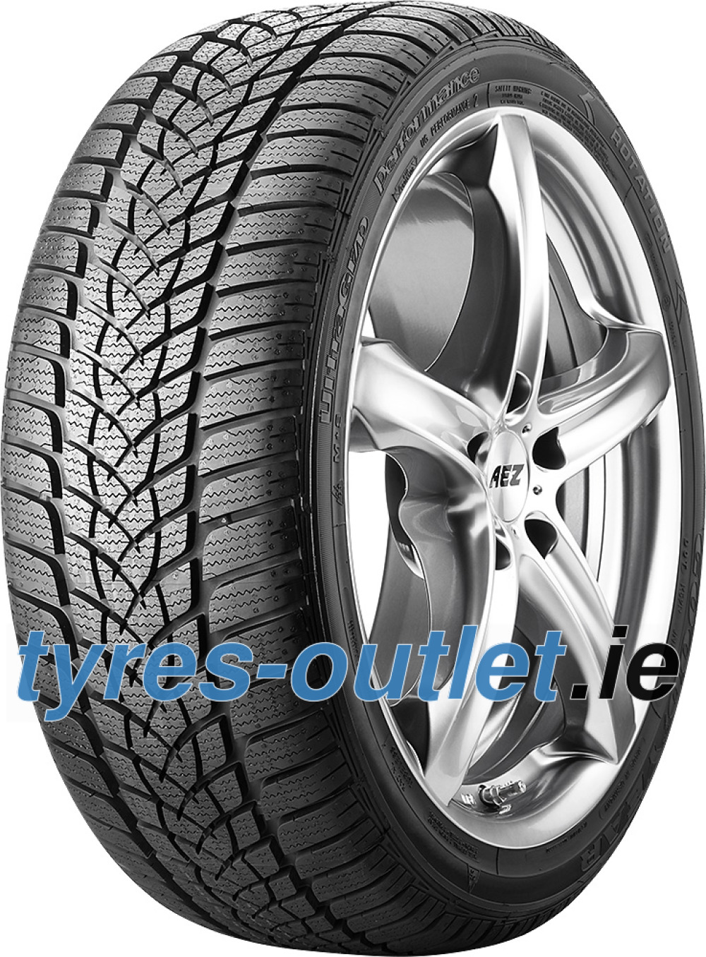 Goodyear UltraGrip Performance 2 ( 205/60 R16 92H , with rim protection (MFS), * )