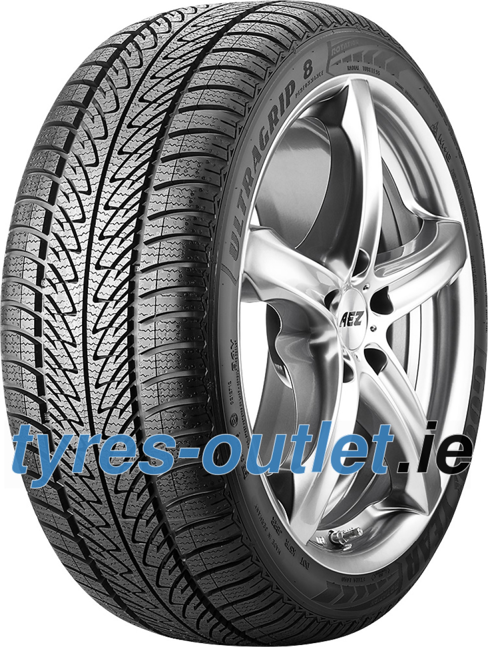 Goodyear UltraGrip 8 Performance ROF ( 205/60 R16 92H *, with rim protection (MFS), runflat )
