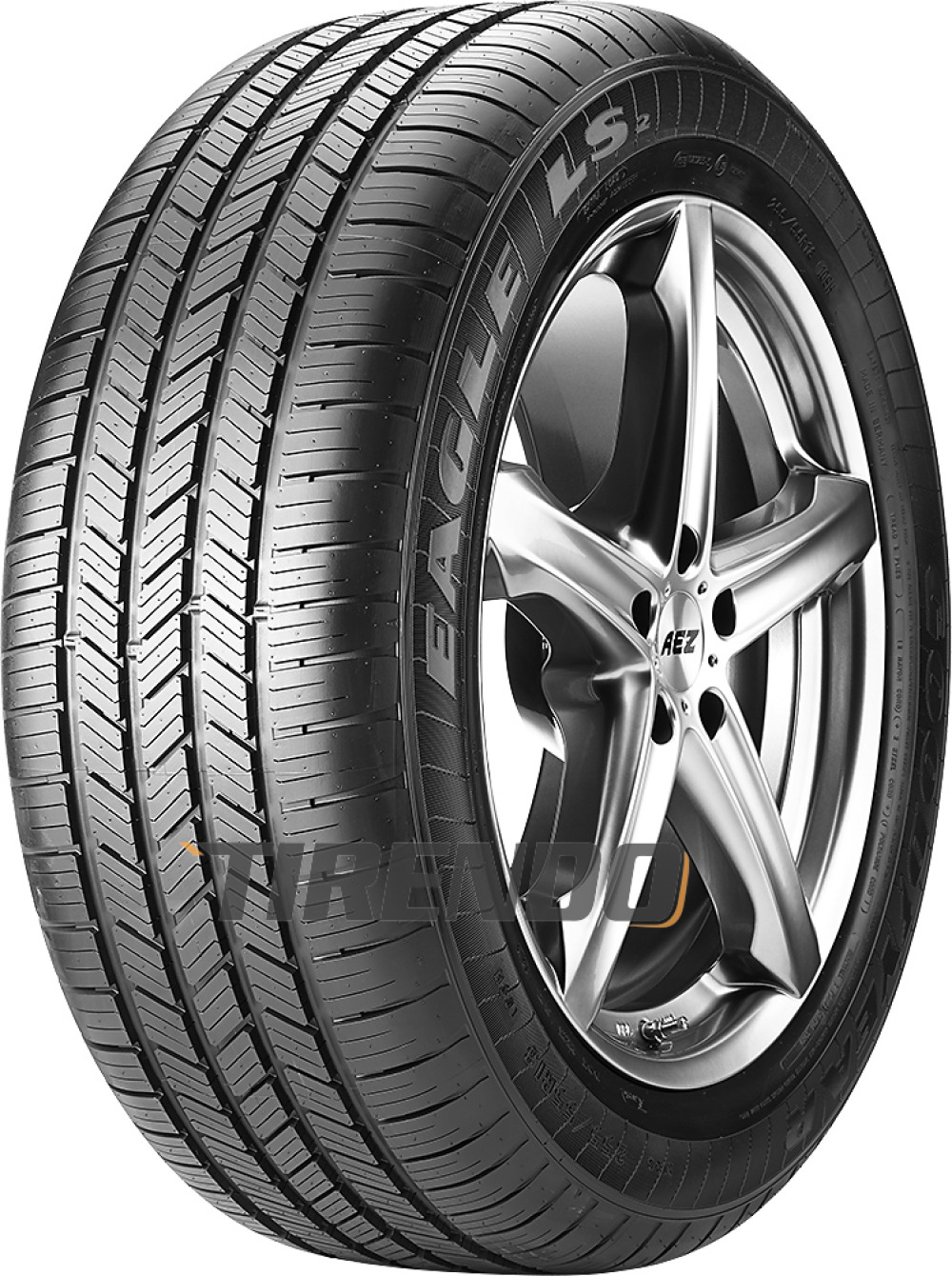 goodyear eagle ls2 245 45 r18 100h xl with rim protection mfs ao blt. Black Bedroom Furniture Sets. Home Design Ideas