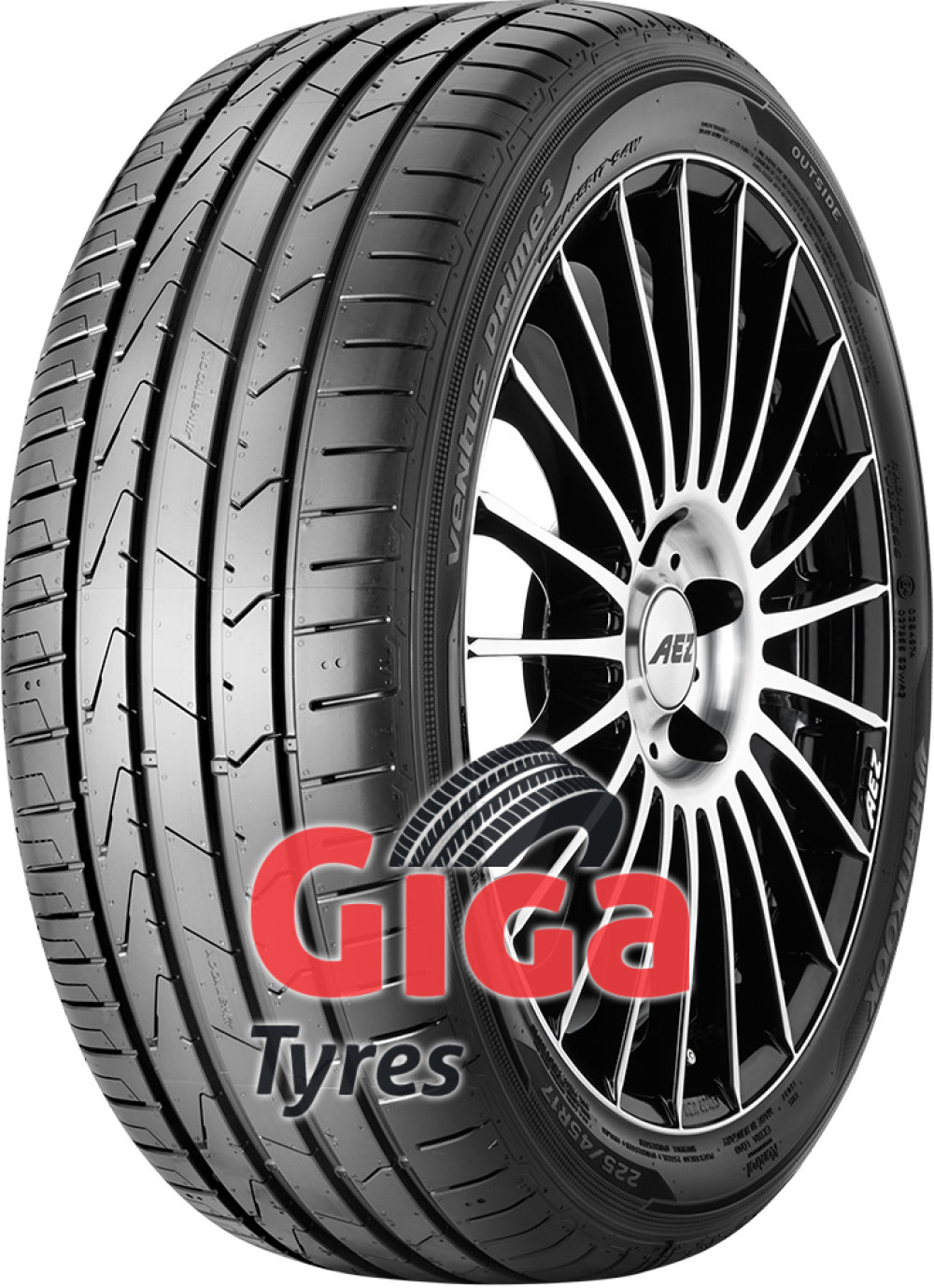 Hankook Ventus Prime 3 K125 ( 195/50 R16 88V XL with rim protection (MFS) SBL )