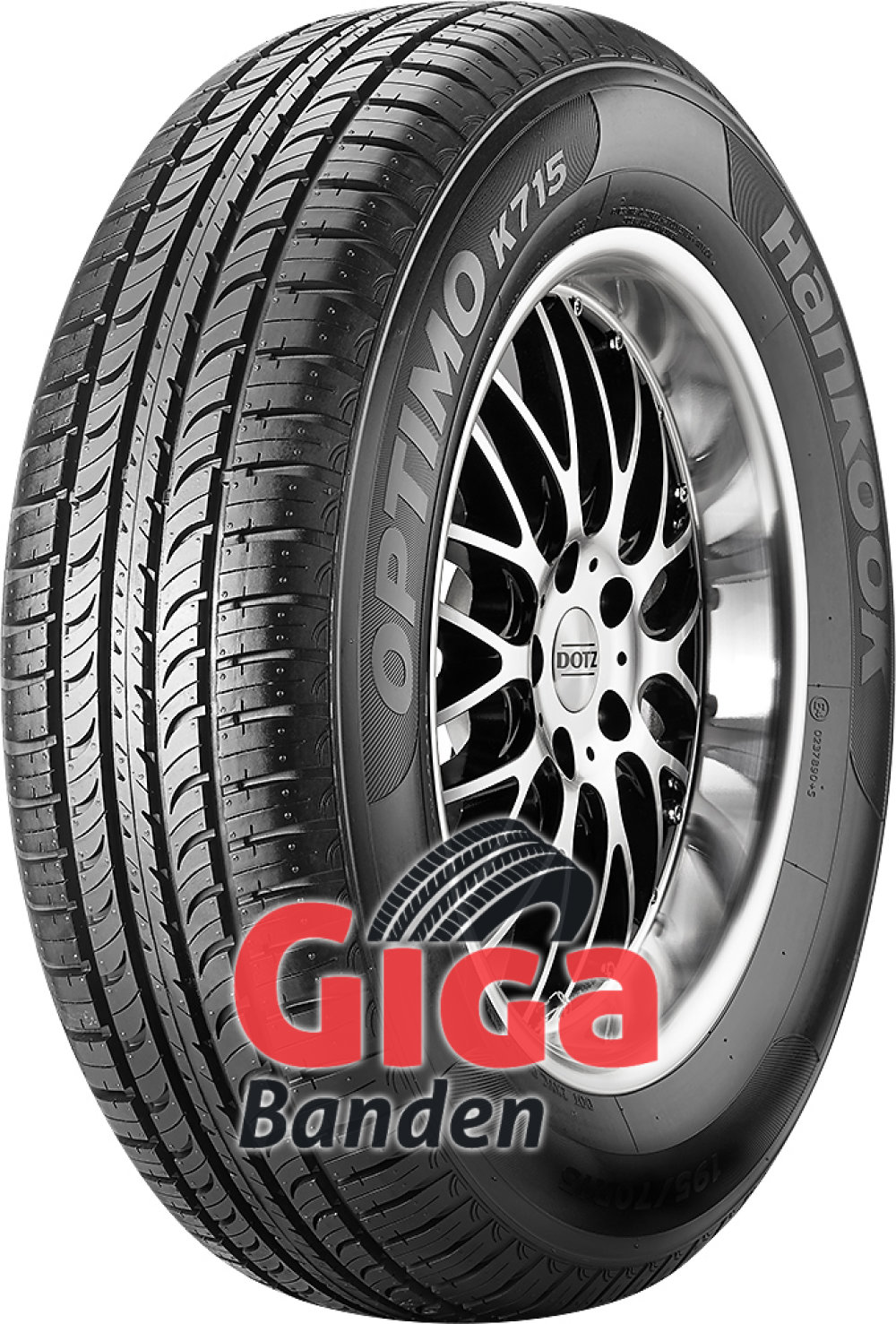 Hankook Optimo K715 ( 165/80 R15 87T WW 20mm )