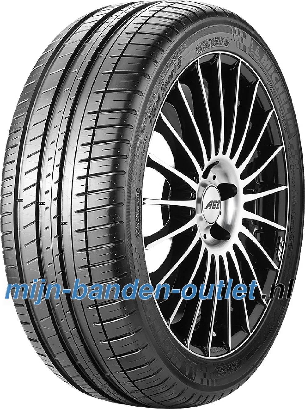 Michelin Pilot Sport 3 ( 255/40 ZR19 100Y XL met wangbescherming (FSL), GRNX )