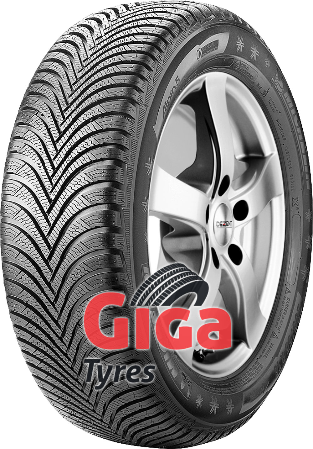 Michelin Alpin 5 ( 215/55 R17 98V XL , with rim protection ridge (FSL) )