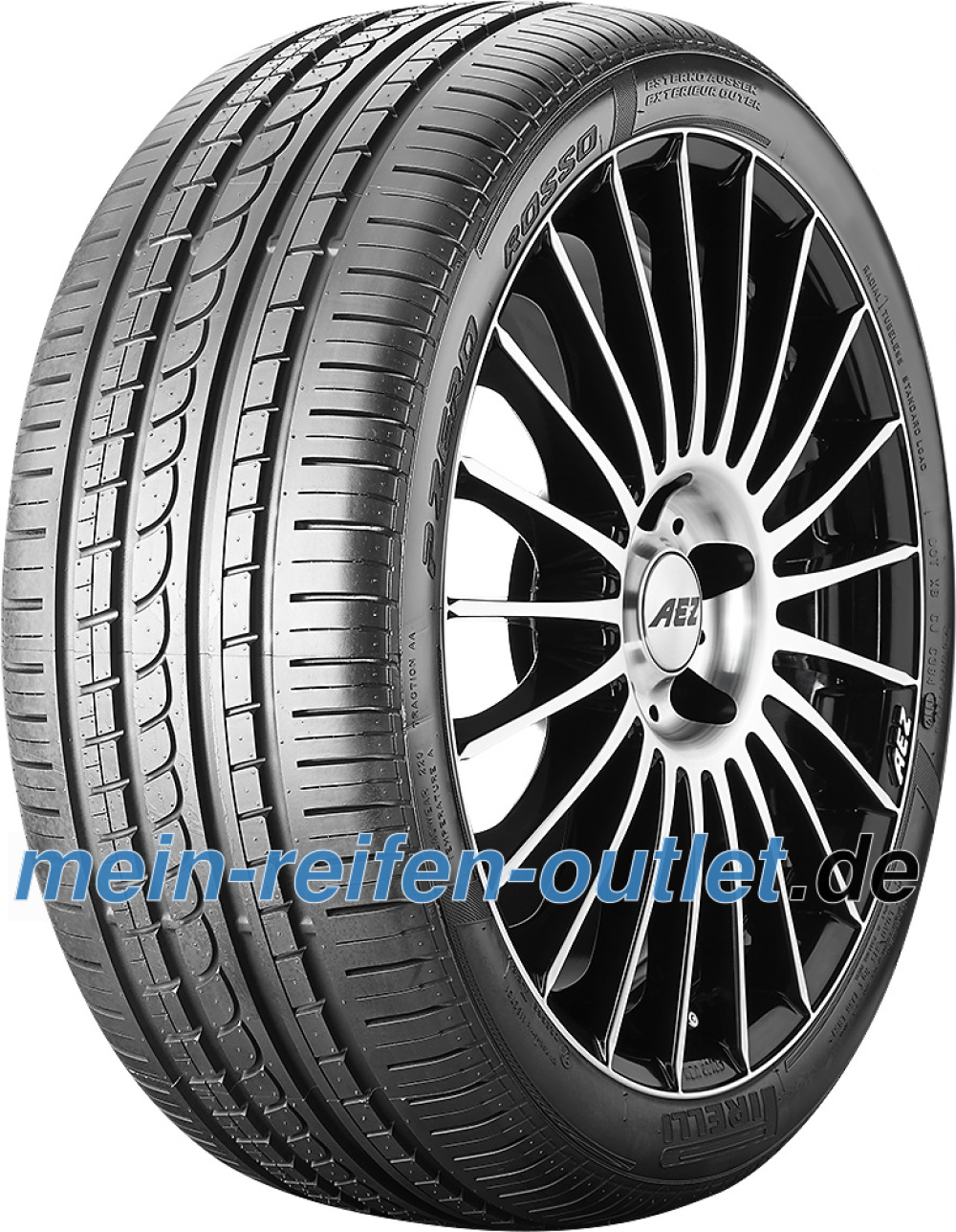 Pirelli P Zero Rosso Asimmetrico ( 285/45 R19 107W MO, mit Felgenschutz (MFS) )