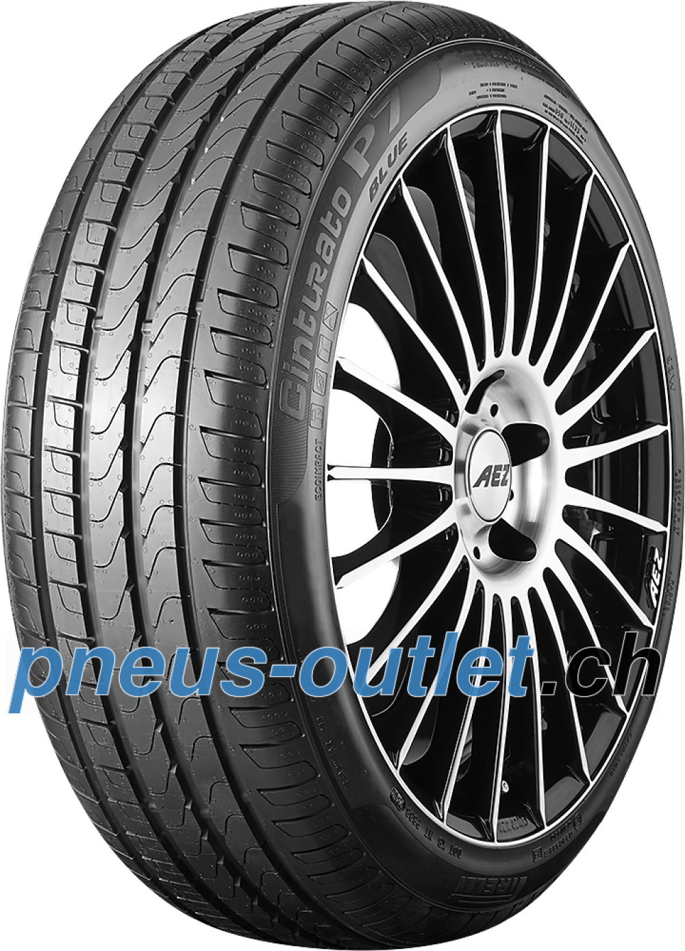 Pirelli Cinturato P7 Blue ( 225/45 R17 91V AO, avec protège-jante (MFS) )