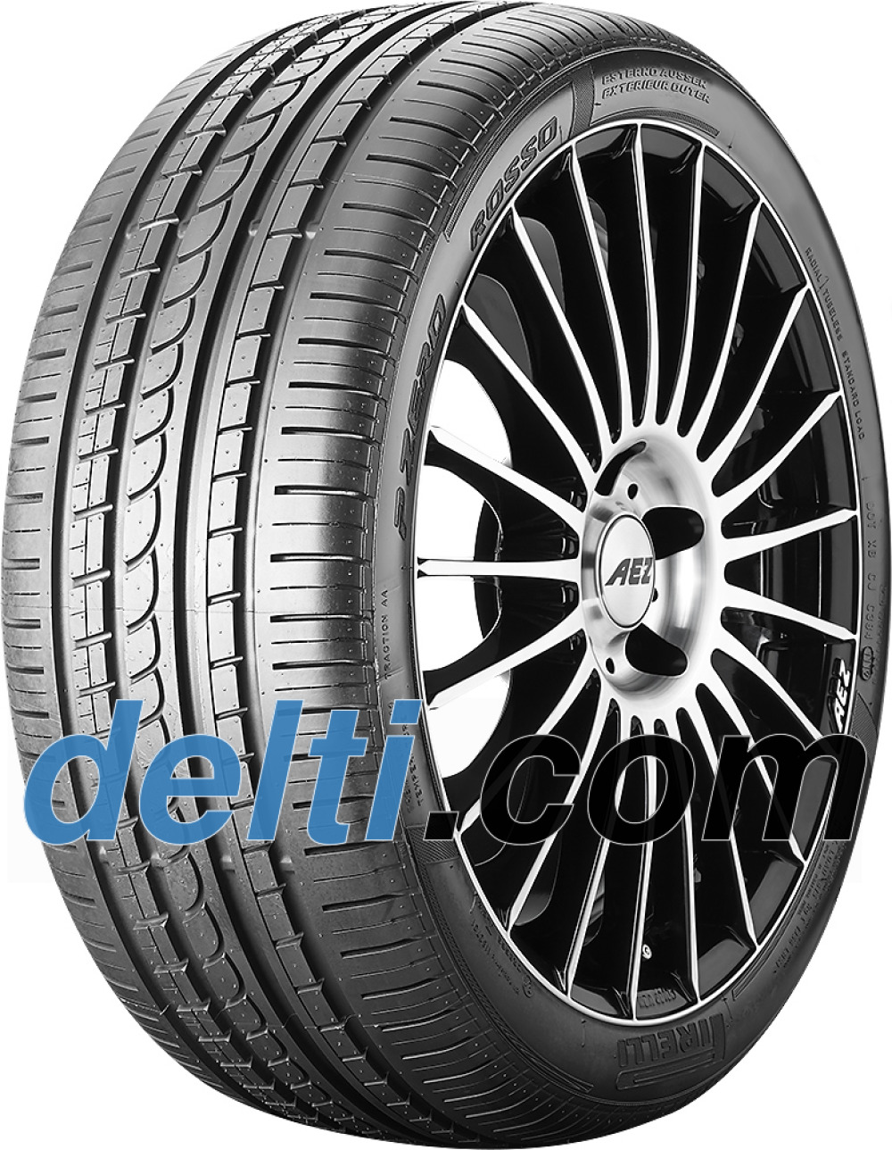 Pirelli P Zero Rosso Asimmetrico ( 235/45 R19 95W *, med fälg skyddslist (MFS) )