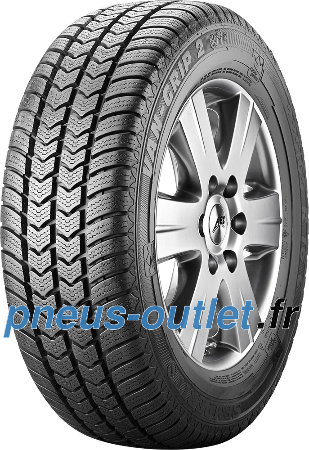 Semperit Van-Grip 2 ( 195/65 R16C 104/102T 8PR Double marquage 100T )
