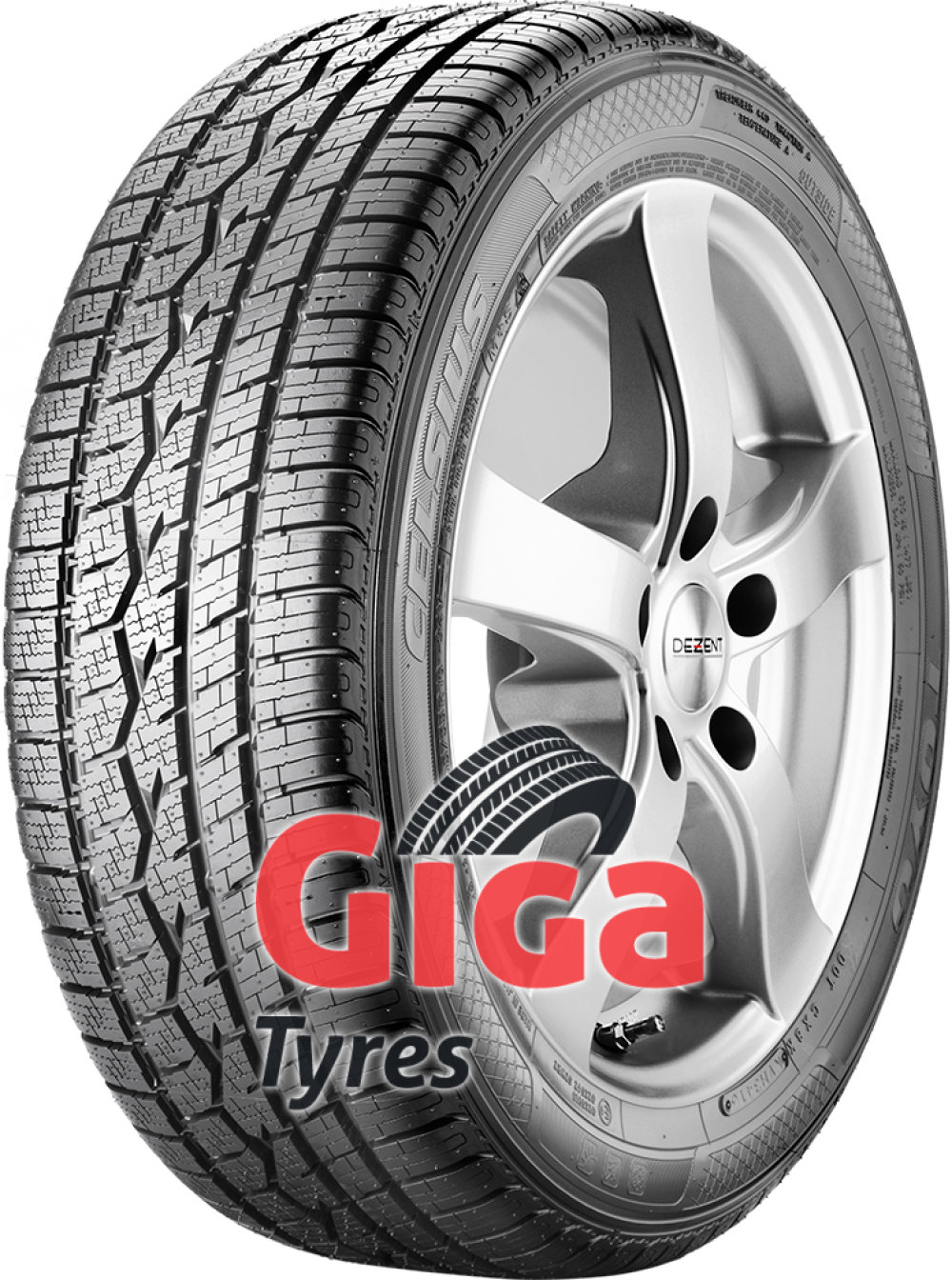 Toyo Celsius ( 205/45 R16 83H , with rim protection ridge (FSL) )