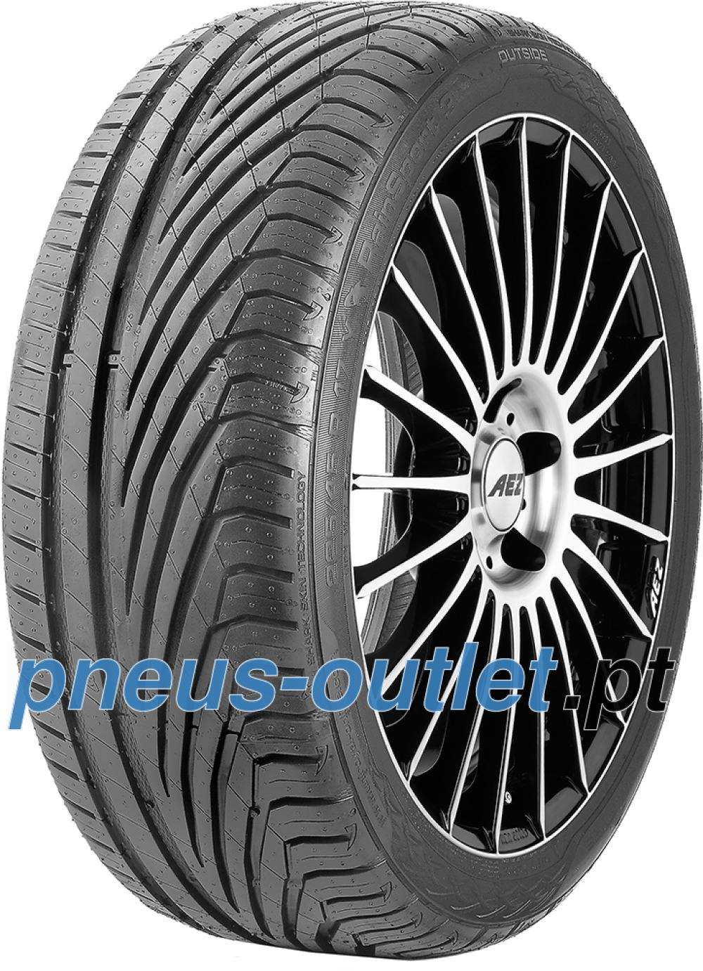 Uniroyal RainSport 3 ( 205/45 R16 83V com bordo da jante saliente )