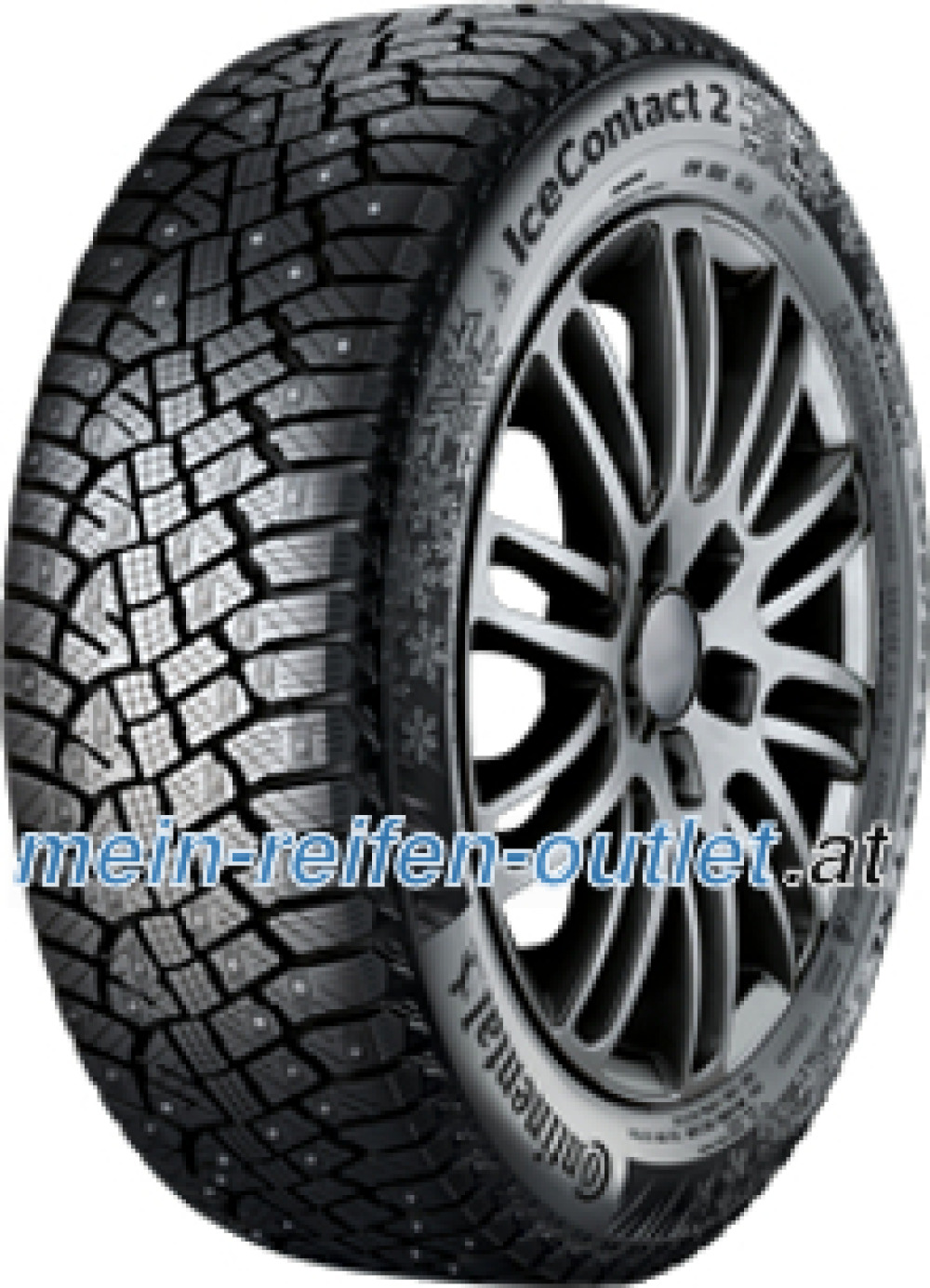 Continental IceContact 2 ( 215/55 R18 99T XL , bespiked, mit Felgenrippe )