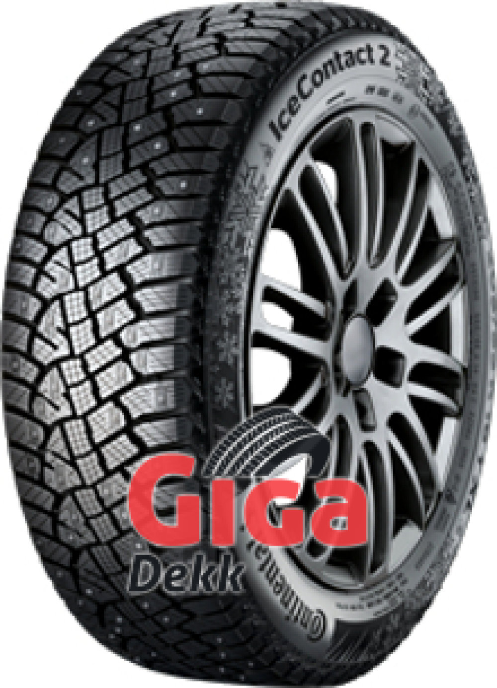 Continental Conti Ice Contact 2 ( 195/55 R16 91T XL med pigger )