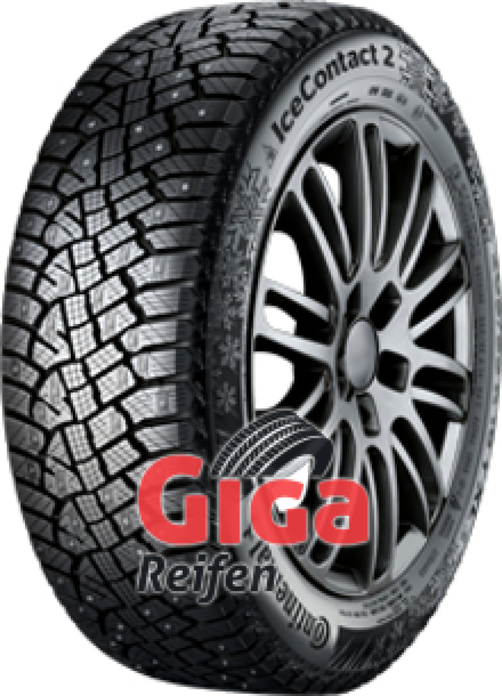 Continental Conti Ice Contact 2 SSR ( 255/50 R19 107T XL runflat, bespiked, mit Felgenrippe )